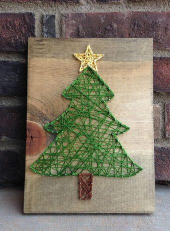 C'est le clou ! Votre motif préféré de Noël réalisé en « string art »
